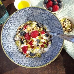 yaourt complet fruits et muesli