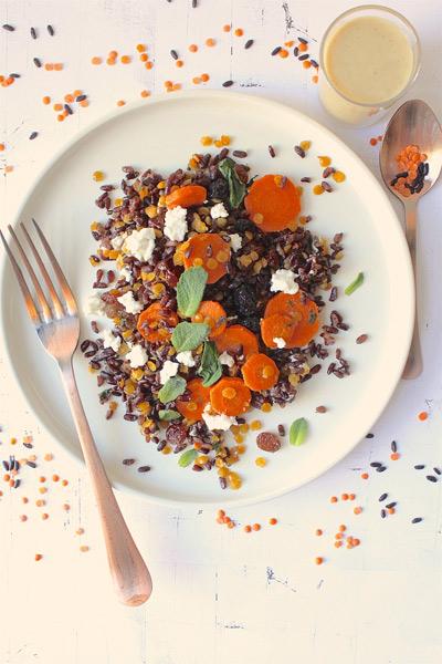 Cookalifebymaeva-riz-complet-noir-lentilles-carottes-fruits-secs