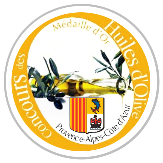 Logo concours huile olive region paca medaille or